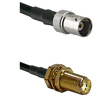 BNC Female on RG400 to SMA Female Bulkhead Cable Assembly