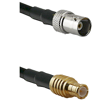 BNC Female on RG58C/U to MCX Male Cable Assembly