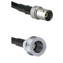 BNC Female on RG58C/U to QN Male Cable Assembly