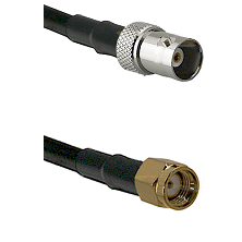 BNC Female on RG58C/U to SMA Reverse Polarity Male Cable Assembly