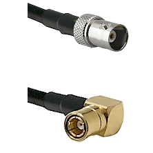 BNC Female on RG58C/U to SMB Right Angle Female Cable Assembly