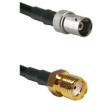 BNC Female on RG58C/U to SMA Reverse Thread Female Cable Assembly