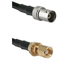 BNC Female on RG58C/U to SMC Female Bulkhead Cable Assembly