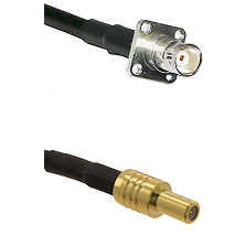 BNC 4 Hole Female on Belden 83242 RG142 to SLB Male Cable Assembly