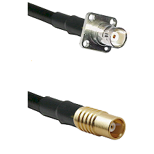 BNC 4 Hole Female on LMR100 to MCX Female Cable Assembly