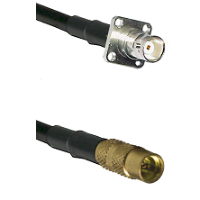 BNC 4 Hole Female on LMR100 to MMCX Female Cable Assembly