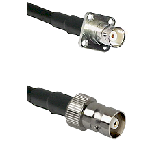 BNC 4 Hole Female on RG142 to C Female Cable Assembly