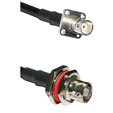 BNC 4 Hole Female on RG400 to C Female Bulkhead Cable Assembly