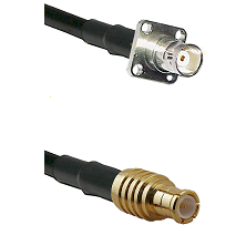 BNC 4 Hole Female on RG400 to MCX Male Cable Assembly