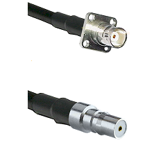 BNC 4 Hole Female on RG400 to QMA Female Cable Assembly
