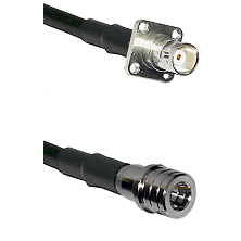 BNC 4 Hole Female on RG400 to QMA Male Cable Assembly
