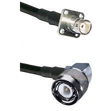 BNC 4 Hole Female on RG400 to C Right Angle Male Cable Assembly