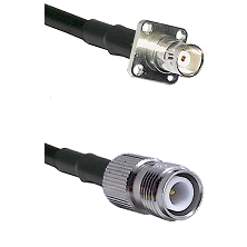 BNC 4 Hole Female on RG400 to TNC Reverse Polarity Female Cable Assembly