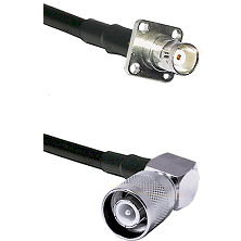 BNC 4 Hole Female on RG400 to SC Right Angle Male Cable Assembly