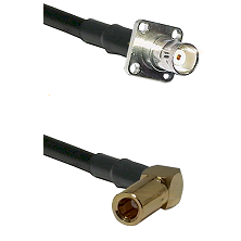 BNC 4 Hole Female on RG400 to SLB Right Angle Female Cable Assembly