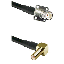 BNC 4 Hole Female on RG400 to SLB Right Angle Male Cable Assembly