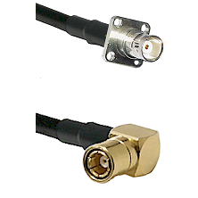 BNC 4 Hole Female on RG400 to SMB Right Angle Female Cable Assembly