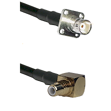 BNC 4 Hole Female on RG400 to SMC Right Angle Male Cable Assembly