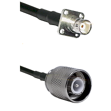 BNC 4 Hole Female on RG400 to SC Male Cable Assembly
