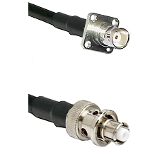 BNC 4 Hole Female on RG400 to SHV Plug Cable Assembly