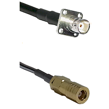 BNC 4 Hole Female on RG400 to SLB Female Cable Assembly