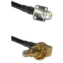 BNC 4 Hole Female on RG400 to SLB Male Bulkhead Cable Assembly