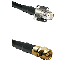BNC 4 Hole Female on RG400 to SMC Female Cable Assembly