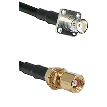 BNC 4 Hole Female on RG400 to SMC Female Bulkhead Cable Assembly