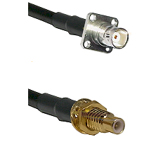 BNC 4 Hole Female on RG400 to SMC Male Bulkhead Cable Assembly