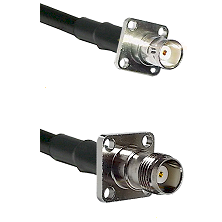 BNC 4 Hole Female on RG400 to TNC 4 Hole Female Cable Assembly