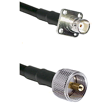 BNC 4 Hole Female on RG400 to UHF Male Cable Assembly