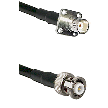 BNC 4 Hole Female on RG58C/U to MHV Male Cable Assembly