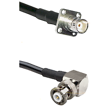 BNC 4 Hole Female on RG58C/U to MHV Right Angle Male Cable Assembly