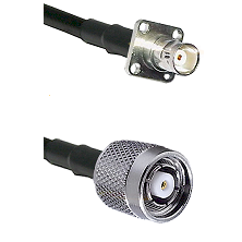 BNC 4 Hole Female on RG58C/U to TNC Reverse Polarity Male Cable Assembly
