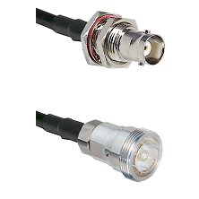 BNC Female Bulkhead Connector On LMR-240UF UltraFlex To 7/16 Din Female Connector Coaxial Cable Asse