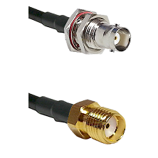 BNC Female Bulkhead Connector On LMR-240UF UltraFlex To SMA Reverse Thread Female Connector Coaxial