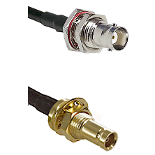 BNC Female Bulkhead on RG142 to 10/23 Female Bulkhead Cable Assembly
