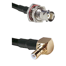 BNC Female Bulk Head To Right Angle SMB Male Connectors RG178 Cable Assembly