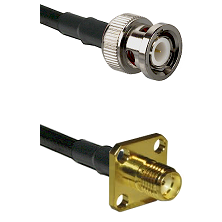 BNC Male on Belden 83242 RG142 to SMA 4 Hole Female Cable Assembly