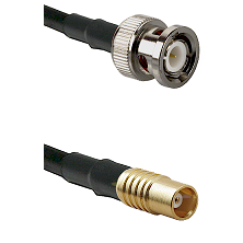BNC Male on LMR100 to MCX Female Cable Assembly