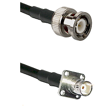 BNC Male on LMR200 UltraFlex to BNC 4 Hole Female Cable Assembly
