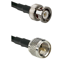 BNC Male on LMR200 UltraFlex to Mini-UHF Male Cable Assembly