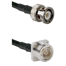 BNC Male Connector On LMR-240UF UltraFlex To 7/16 4 Hole Female Connector Cable Assembly