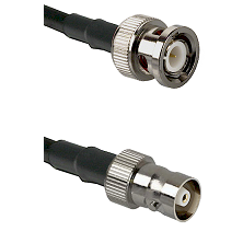 BNC Male Connector On LMR-240UF UltraFlex To C Female Connector Cable Assembly