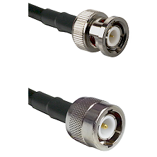 BNC Male Connector On LMR-240UF UltraFlex To C Male Connector Cable Assembly