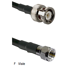 BNC Male Connector On LMR-240UF UltraFlex To F Male Connector Cable Assembly