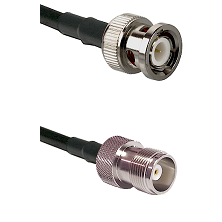 BNC Male Connector On LMR-240UF UltraFlex To HN Female Connector Cable Assembly