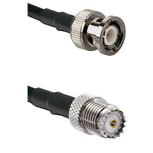 BNC Male on LMR240 Ultra Flex to Mini-UHF Female Cable Assembly