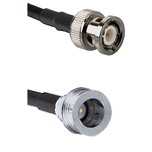 BNC Male Connector On LMR-240UF UltraFlex To QN Male Connector Cable Assembly