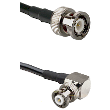 BNC Male Connector On LMR-240UF UltraFlex To MHV Right Angle Male Connector Cable Assembly
